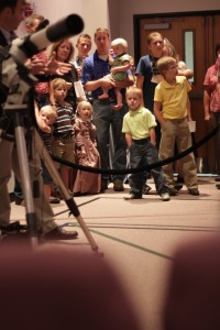 Families Learning About Telescopes